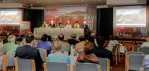 A glimpse of the panel and the audience.